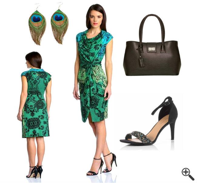Outfit Desigual Kleider SALE Blau Grün