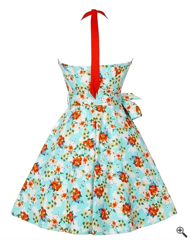 Rockabilly Pin up Kleider Petticoat Rückenfrei Vintage Outfit