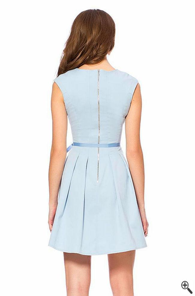 Trauzeugin Kleid Rücken Standesamt Blau Türkis Trauzeugin Outfit