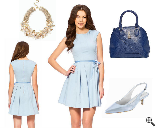 Cocktailkleid blau outfit
