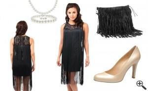20er Jahre Outfit Charleston Flapper Kleid Stil