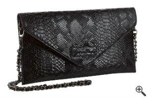 Handtasche für One Shoulder Kleid schwarz kurz Outfit Ideen