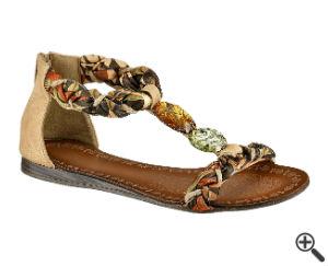 Sandale für Strand Wickelkleid Sommer Outfit Ideen