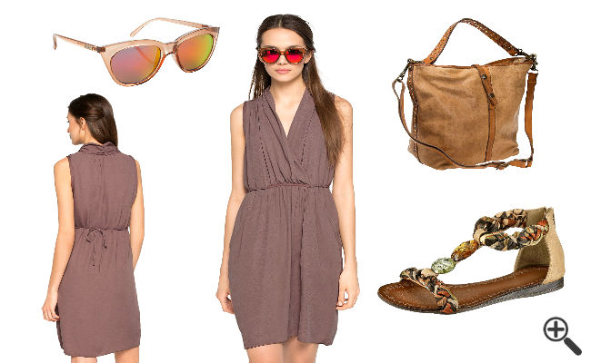 Sommer Outfit Ideen Strand Wickelkleid