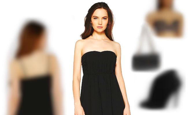 Trägerloses Kleid vorne kurz hinten lang