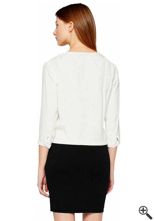 Blusenkleid schwarz weiß Business Outfit