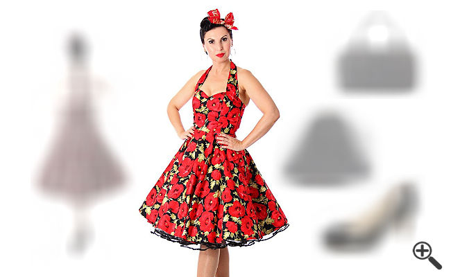 Warum Erica diese festlichen Petticoat Kleider im 50er Jahre Stil liebt, musst du gesehen haben