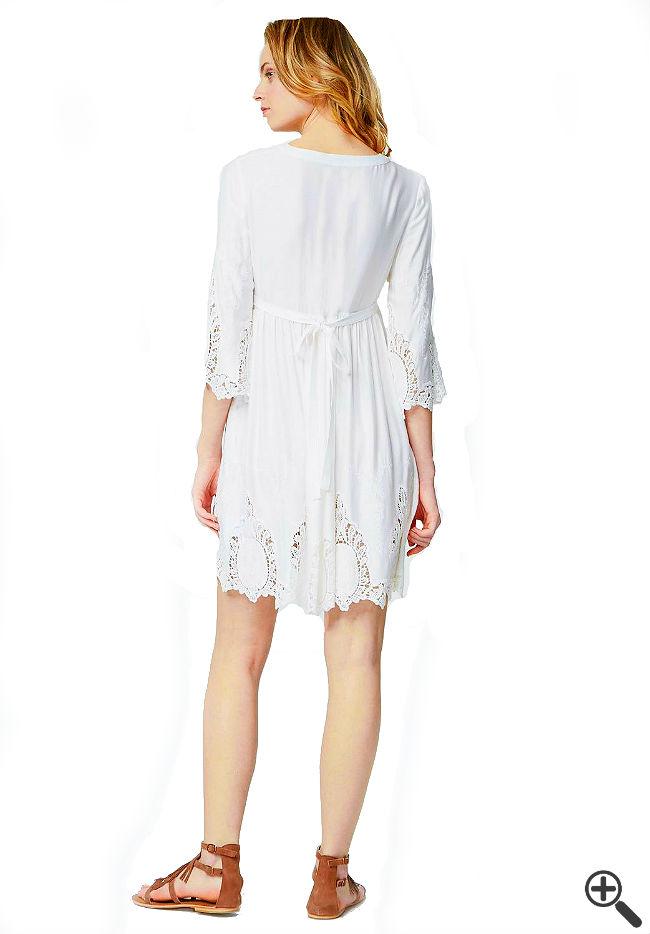 Vintage Boho Kleid weiß Boho Style Outfit
