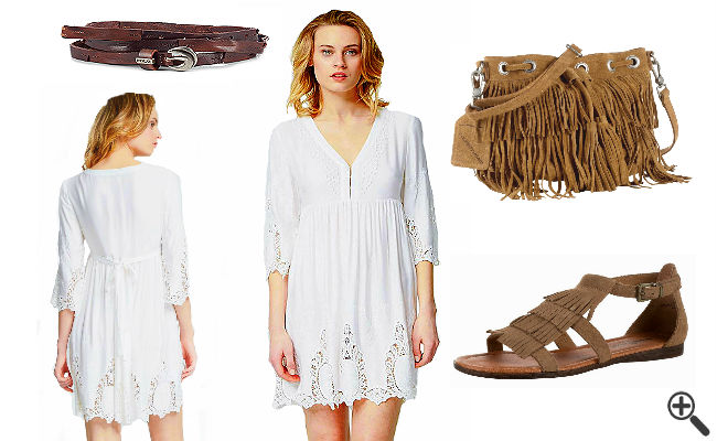 Vintage Kleid Boho Style Outfit