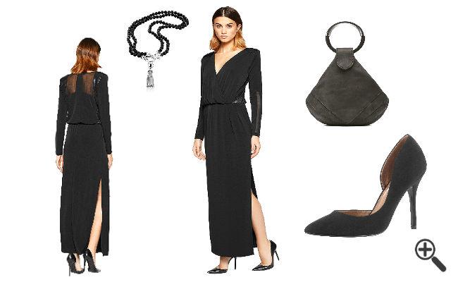 Elegantes Outfi Elegante Abendkleider lang mit Ärmel