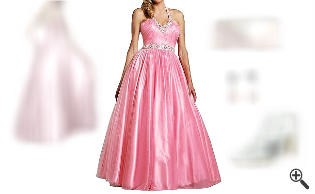 Farbige Brautkleider für mollige Frauen
