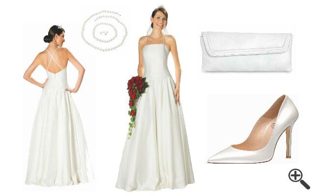 Hochzeitsoutfit Brautkleider für kleine Frauen