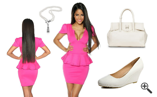 Neon Outfit pinkes Neon Kleid