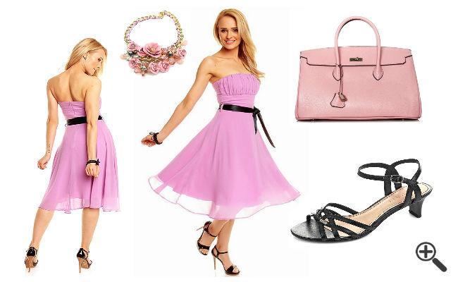 Outfit Trauzeuglange Brautjungfernkleider Pastell Flieder