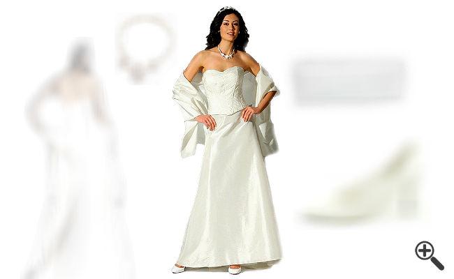 Schlichte Brautkleider Standesamt weiss