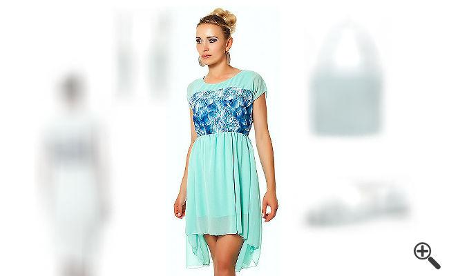 Warum Annas Vokuhila Kleid in türkis ihr Outfit of the Day wurde, müsst ihr gesehen haben