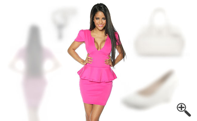 pinkes Neon Kleid