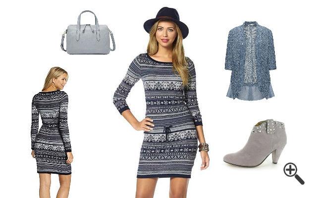 Herbst Outfit Damen Strickkleider günstig