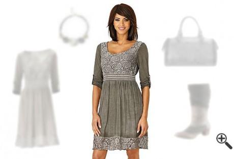 Langarm T-Shirtkleid mit Spitze + 3 Damen Outfit Ideen für Elly