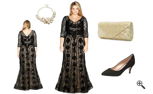 Abendoutfit Elegante Abendkleider XXL lang