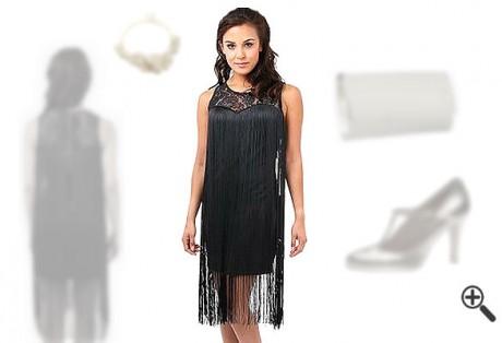 Charleston Kleid 20er Vintage schwarz