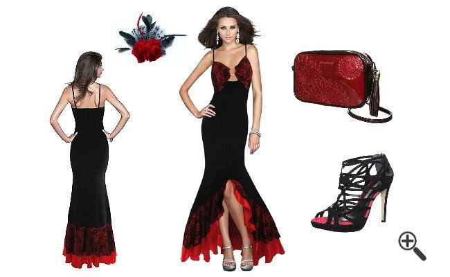 Flamenco Stil Spanische Kleider