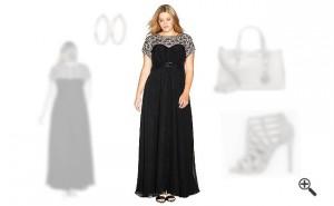 Festliche Kleider für Mollige Damen lang