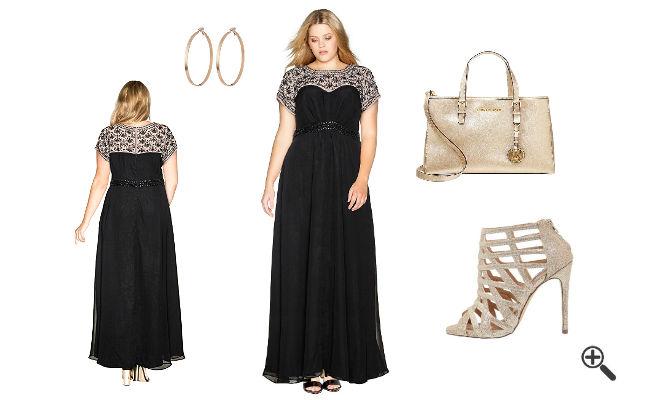Outfit für Musical Festliche Kleider für Mollige Damen lang