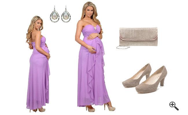Outfit für Schwangere Festliche Umstandskleider Lang Sommer
