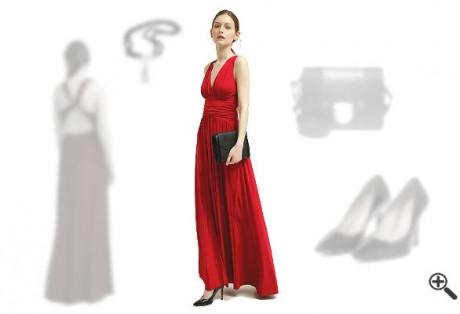 Schöne Abiballkleider Rot Lang