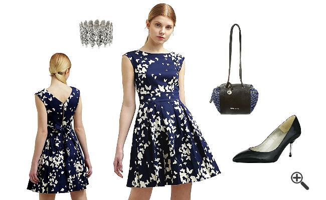 Schicke Outfits Closet Kleider Navy Blau Online Kaufen