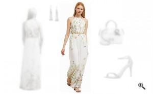 Festliche Sommerkleider Lang Weiß
