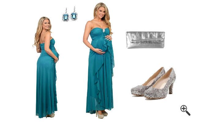 Outfit für Schwangere Umstandsabendkleid Lang