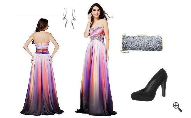 Schöne Outfits Bunte Abendkleider Lang