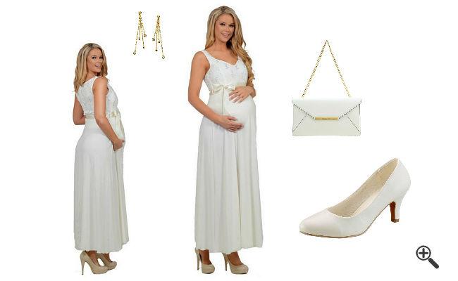 Schwangerschaftsoutfits Umstandsbrautkleid Standesamt