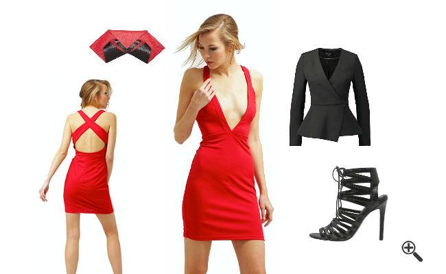 Sexy Outfit Ideen Enge sexy Partykleider KurzRot