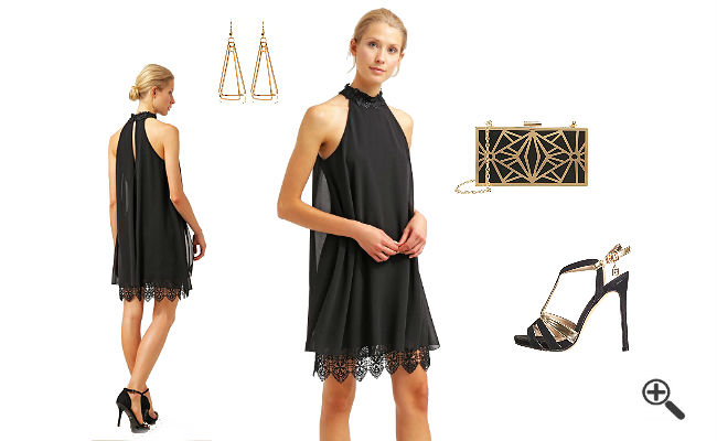Kleider XS Schwarz Party Outfit 2016