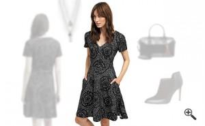 Reduzierte Kleider von Desigual Schwarz
