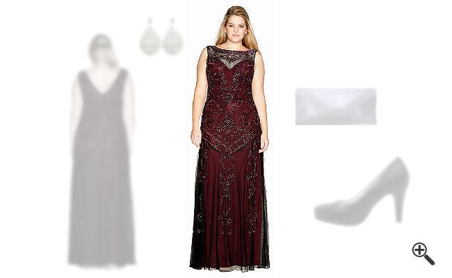 Abendkleider für mollige DamenAbend Outfit