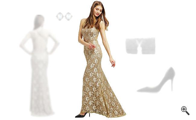 Beiges Abendkleidkombinieren Beige Outfits