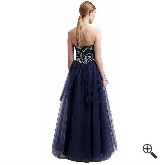 Blaues Abendkleid Langkombinieren