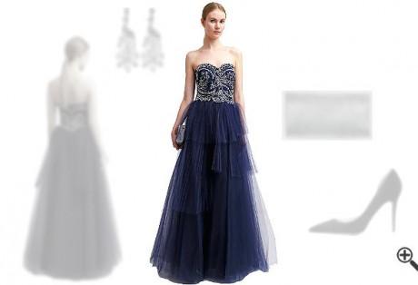 Blaues Abendkleidkombinieren Blaue Outfits