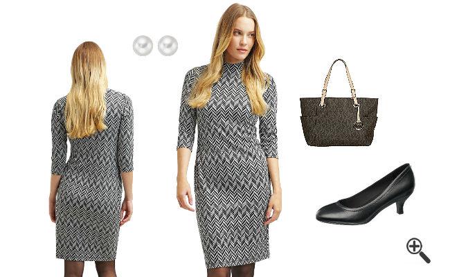 Elegante Kleider 3/4 Arm knielangSchicke Outfits