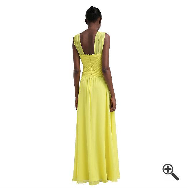 Gelbes Abendkleid Langkombinieren