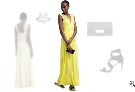 Gelbes Abendkleidkombinieren Gelbe Outfits