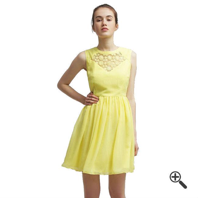 Gelbes Kleid kurz