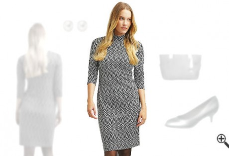 Kleider 3/4 Arm knielangSchicke Outfits