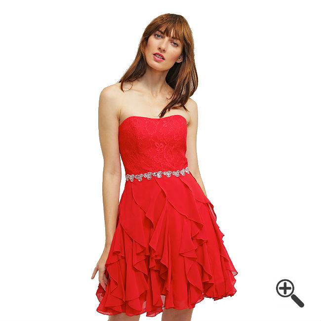 Kleider Trägerlos Rot