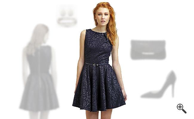   Blaues Kleid in kurz kombinieren + 3 Blaue Outfits für