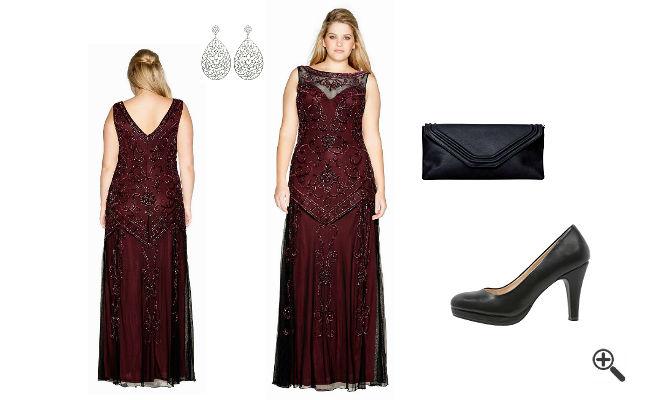 Lange Abendkleider für mollige DamenAbend Outfit
